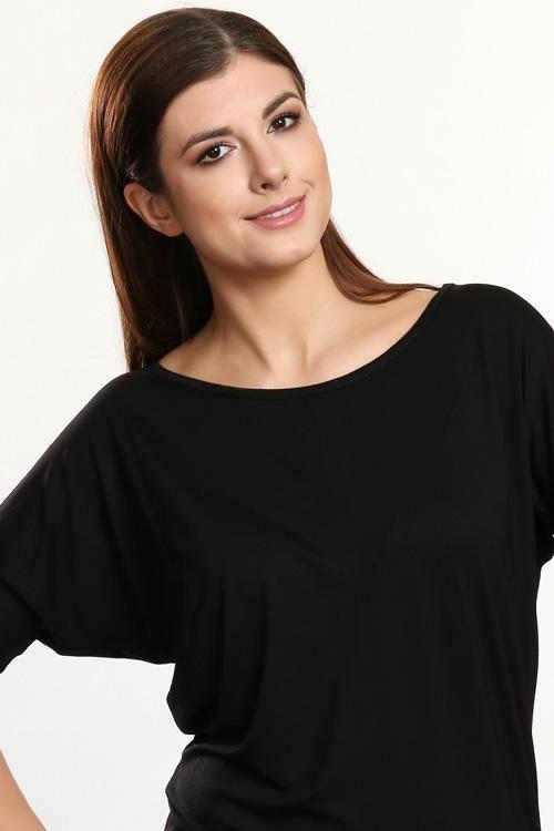 czarna-bluzCzarna bluzka z rękawami 3/4 typu batwingka-z-rekawami-3-4-typu-batwing