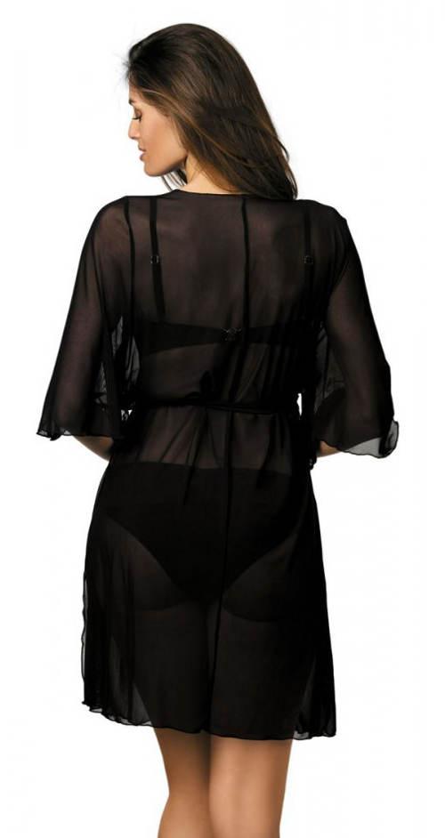 Czarna tunika do kostiumu kąpielowego