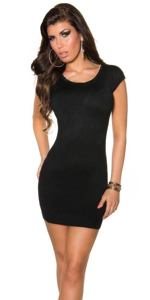 Damska czarna sukienka mini