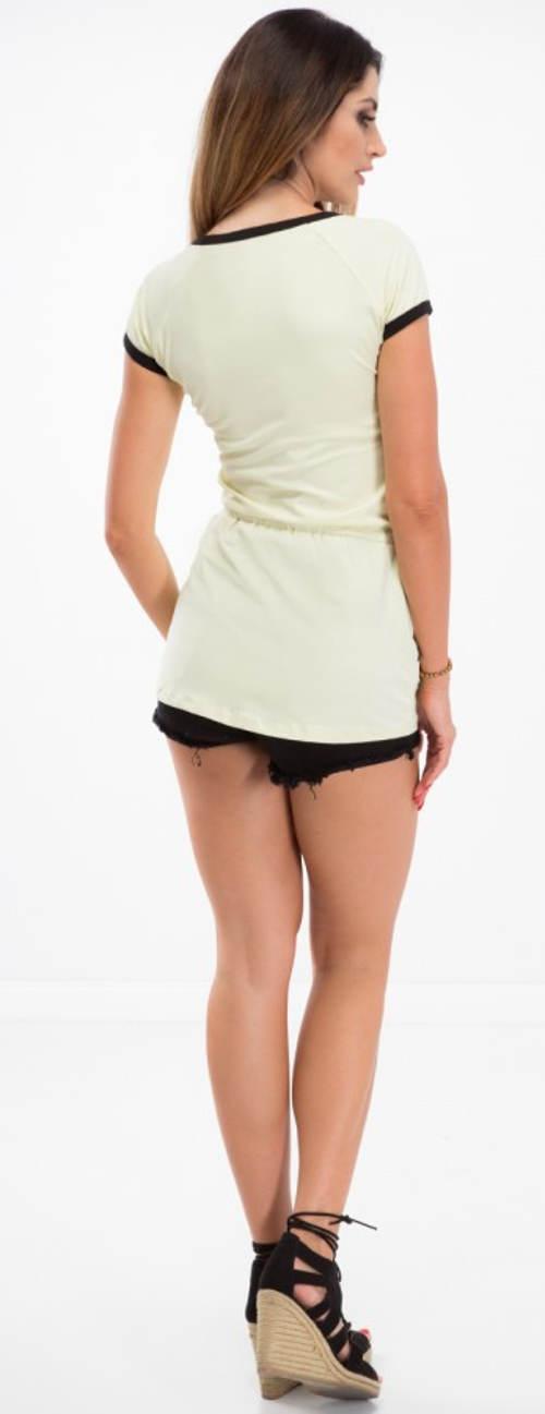 Krótka seksowna tunika koszulowa