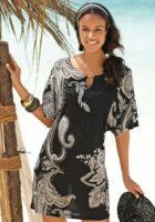 Lekka, ozdobna tunika plażowa