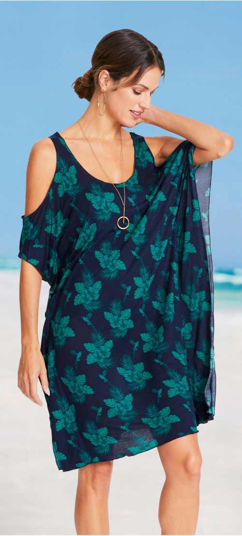 Lekka sukienka plażowa o luźnym kroju pareo
