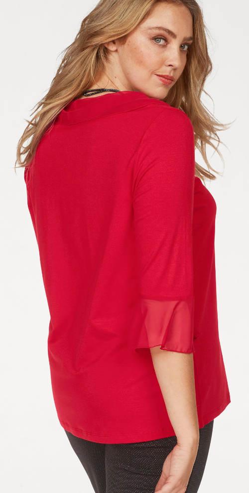 Bluzka damska jednolita czerwona