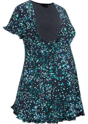 Tunika ciążowa w nowoczesny, graficzny wzór.