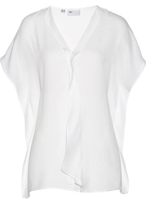 Zwiewna biała tunika