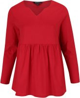 Czerwona tunika z długim rękawem